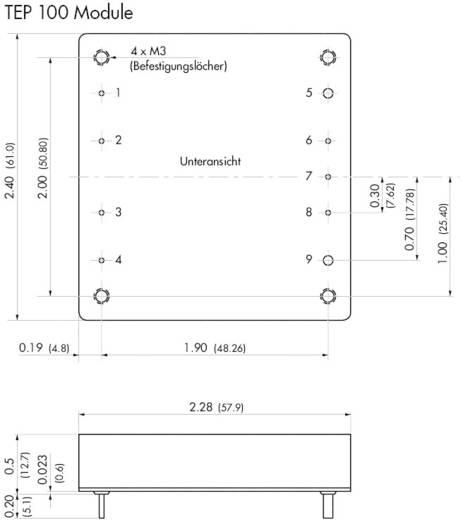 DC/DC átalakító, 100 W, bemenet: 36 - 75 V/DC, kimenet: 12 V/DC 8,4 A 100 W, TracoPower TEP 100-4812
