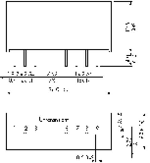 DC/DC átalakító, TMR 2WI, 2 Watt, bemenet: 9 - 36 V/DC, kimenet: ±12 V/DC ±85 mA 2 W, TracoPower TMR 2-2422WI