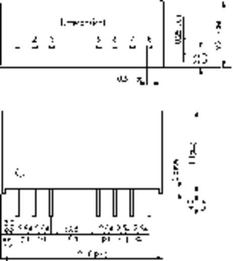 DC/DC átalakító, TMR 3WI sorozat, 3 Watt, bemenet: 9 - 36 V/DC, kimenet: ±12 V/DC ±125 mA 3 W, TracoPower TMR 3-2422WI