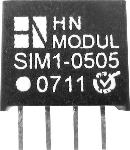 DC/DC átalakító, 1 W, SIM1 SIL4 sorozat, bemenet: 15 V, kimenet: 5 V 200 mA 1 W, HN Power SIM1-1505-SIL4
