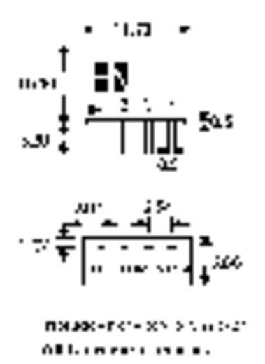 DC/DC átalakító, 1 W, SIM1 SIL4 sorozat, bemenet: 12 V, kimenet: 5 V 200 mA 1 W, HN Power SIM1-1205-SIL4