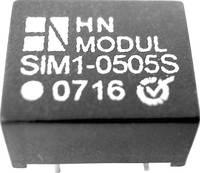 DC/DC átalakító, 1 W, SIM1 DIL8 sorozat, bemenet: 12 V, kimenet: 15 V 85 mA 1 W, HN Power SIM1-1215S-DIL8 (SIM1-1215S-DIL8) HN Power