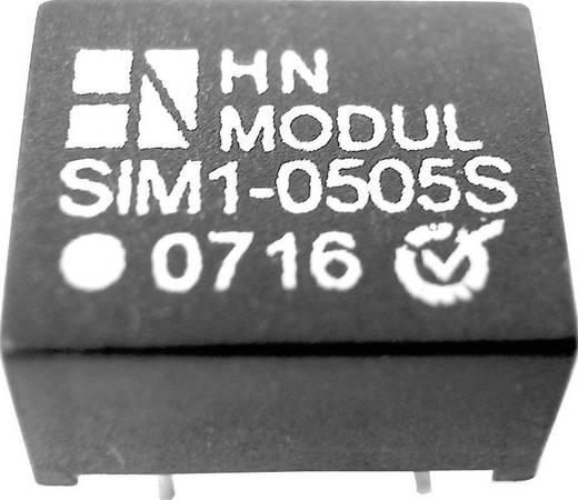 DC/DC átalakító, 1 W, SIM1 DIL8 sorozat, bemenet: 15 V, kimenet: ±15 V ±40 mA 1 W, HN Power SIM1-1515D-DIL8