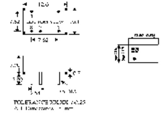 DC/DC átalakító, 1 W, SIM1 DIL8 sorozat, bemenet: 15 V, kimenet: ±5 V ±100 mA 1 W, HN Power SIM1-1505D-DIL8
