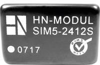 DC/DC átalakító, 3 W, SIM5 sorozat, bemenet: 12 V, kimenet: ±12 V ±125 mA 3 W, HN Power SIM5-1212D (SIM5-1212D) HN Power