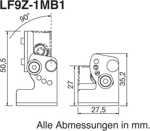Rögzítő elem a LUMIFA LED-es LF1B-A/B/C és LF1B-NA/B/C géplámpákhoz, Idec LF9Z-1MB1