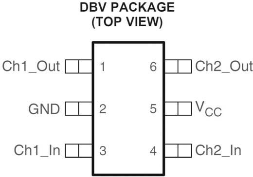 Lineáris IC, SOT-23, 2 csatornás ultra alacsony kapocsfeszültség, ESD megoldás, Texas Instruments TPD2S017