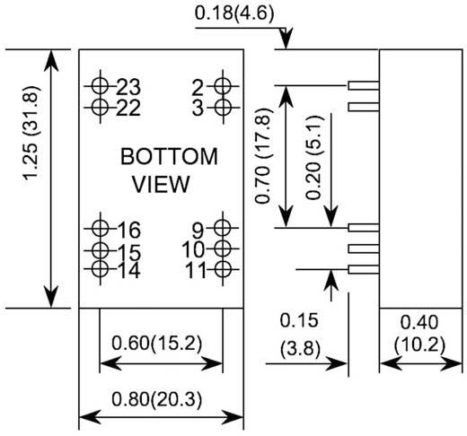 DC/DC átalakító, PXC05 sorozat, bemenet: 18 - 75 V/DC, kimenet: ±12 V ±230 mA 5,52 W, TDK-Lambda PXC05-48WD12