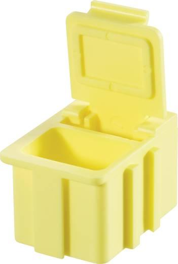 SMD rendszerező doboz, nem vezető, egyszínű Licefa Nem vezető, egyszínű fedél és test Sárga (H x Sz x Ma) 16 x 12 x 15 mm