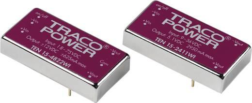 DC/DC átalakító, 15 Watt, 4:1 bemenet, bemenet: 18 - 75 V/DC, kimenet: ±15 V/DC ±500 mA 15 W, TracoPower TEN 15-4823WI