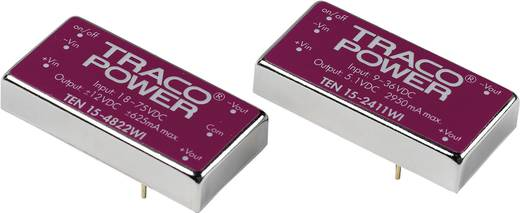 DC/DC átalakító, 15 Watt, 4:1 bemenet, bemenet: 9 - 36 V/DC, kimenet: ±15 V/DC ±500 mA 15 W, TracoPower TEN 15-2423WI