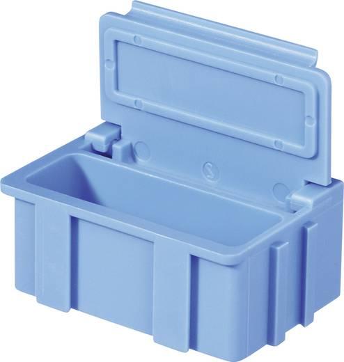 SMD rendszerező doboz, nem vezető, egyszínű Licefa Nem vezető, egyszínű fedél és test Kék (H x Sz x Ma) 37 x 12 x 15 mm