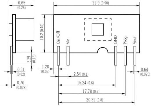DC/DC átalakító, nem szigetelt (POL) átalakító, be: 2,4 - 5,5 V/DC, ki: 0,75 - 3,3 V/DC 6 A, TracoPower TOS 06-05SIL