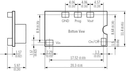 DC/DC átalakító, nem szigetelt (POL) átalakító, be: 2,4 - 5,5 V/DC, kimenet: 0,75 - 3,3 V/DC 6 A, TracoPower TOS 06-05SM