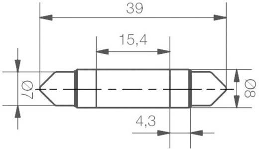 LED-es szofita izzó (1 chip) 24 V, 0,4 W, kék, Signal Construct MSOC083944