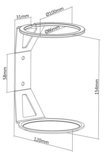 Hangfal fali tartó, fekete, 1 db, Renkforce RF-WMAE-100