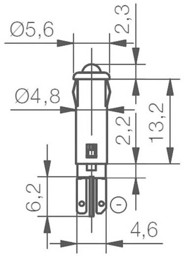 LED-es jelzőlámpa 12 V/DC, Ø 5 mm, sárga, Signal Construct SKRD05102