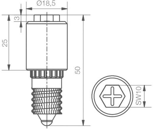 SiStar II LED lámpa 24-28 V E14, zöld, Signal Construct MBRE140874