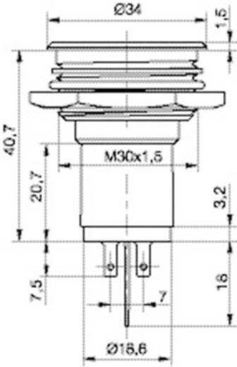 LED-es jelzőlámpa 24-28 V, Ø 30 mm, piros, Signal Construct SMFP30H0249