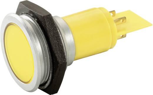 LED-es jelzőlámpa 24-28 V, Ø 30 mm, sárga, Signal Construct SMFP30H1249