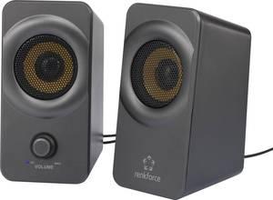 Számítógép hangszóró 2.0, fekete/szürke, Renkforce RF-PCL-MESH2.0 5 W Renkforce
