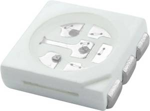 SMD LED 5050 melegfehér 120 ° 20 mA 3.4 V HuiYuan (5050SUW3C) HuiYuan