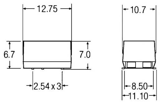 1 W-os DC/DC átalakító, be: 12 V/DC, ki: 12 V/DC, 200 mA, 1 W, Recom International R1S-1212