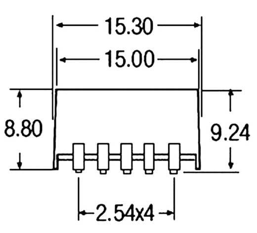 DC/DC átalakító, be: 4,75 - 32 V/DC, ki: 3 - 5,5 V/DC, 500 mA, Recom International R-78AA3.3-0.5SMD