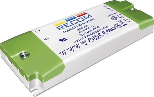 Állandó áramú LED tápegység 350 mA, 3-36 V/DC, 12 W, Recom Lighting RACD12-350