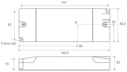 Állandó áramú LED tápegység 1,05 A, 5-17 V/DC, 20 W, Recom Lighting RACD20-1050