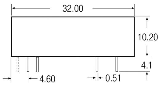 3,5 W-os DC/DC átalakító, be: 18 - 36 V/DC, ki: ±12 V/DC, ±145 mA, 3 W, Recom International REC3.5-2412DRW/R10/A