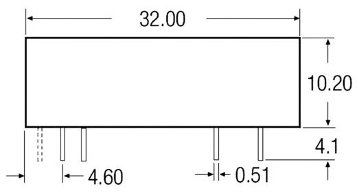 3,5 W-os DC/DC átalakító, be: 9 - 18 V/DC, ki: 12 V/DC, 290 mA, 3 W, Recom International REC3.5-2405SRW/R10/A