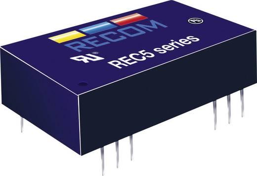 5 W-os DC/DC átalakító, be: 18 - 36 V/DC, ki: ±12 V/DC, ±210 mA, 5 W, Recom International REC5-2412DRW/H4/A