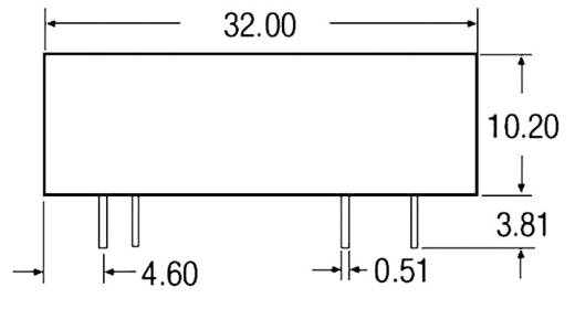 5 W-os DC/DC átalakító, be: 9 - 36 V/DC, ki: 15 V/DC, 340 mA, 5 W, Recom International REC5-2412SRWZ/H2/A