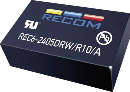 6 W-os DC/DC átalakító, be: 18 - 36 V/DC, ki: ±15 V/DC, ±200 mA, 6 W, Recom International REC6-2415DRW/R10/A