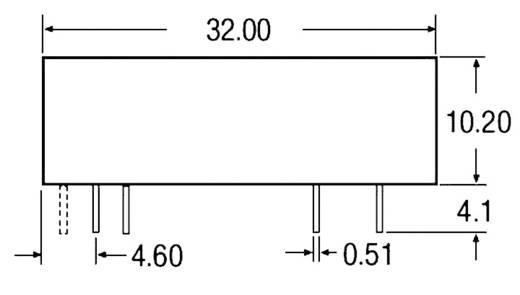 6 W-os DC/DC átalakító, be: 18 - 36 V/DC, ki: ±12 V/DC, ±250 mA, 6 W, Recom International REC6-1212DRW/R10/A