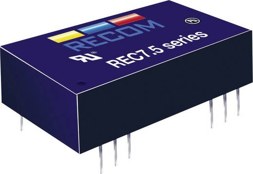 7,5 W-os DC/DC átalakító, be: 18 - 36 V/DC, ki: 12 V/DC, 625 mA, 7,5 W, Recom International REC7.5-2412SRW/H2/A/M