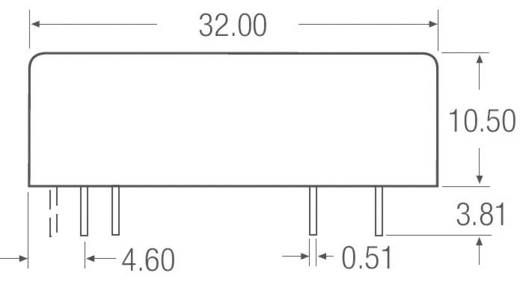 7,5 W-os DC/DC átalakító, be: 18 - 36 V/DC, ki: ±15 V/DC, ±250 mA, 7,5 W, Recom International REC7.5-2415DRW/H2/A/M