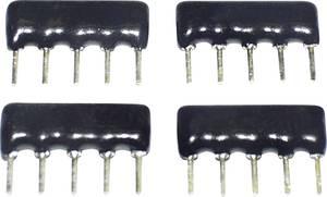 Vastagréteg ellenállás 100 kΩ THT SIP-8 0.125 W TANCAP SIP-B08-104G 1 db TANCAP