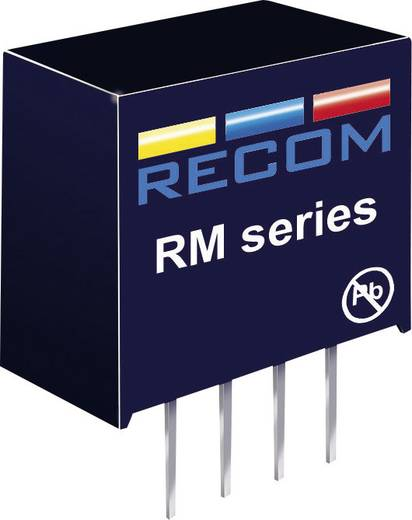 0,25 W-os DC/DC átalakító, be: 5 V/DC, ki: 5 V/DC, 50 mA, 0,25 W, Recom International RM-0505S