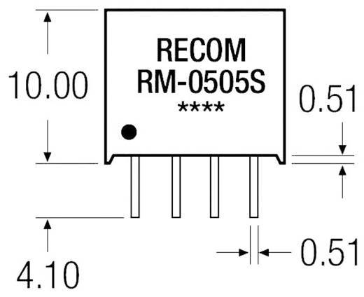 0,25 W-os DC/DC átalakító, be: 12 V/DC, ki: 12 V/DC, 21 mA, 0,25 W, Recom International RM-1212S