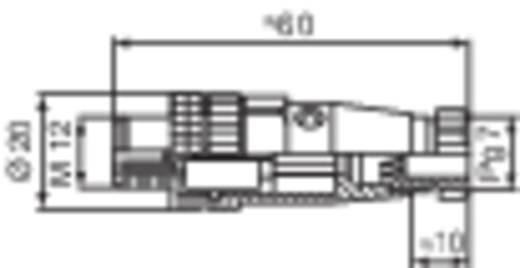 Szerelhető csatlakozó dugó és aljzat, fekete Hirschmann M12 ELST 4012 PG7