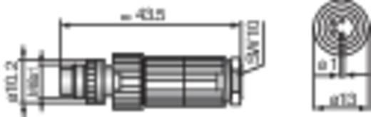 Szerelhető M8-as csatlakozó dugó MiniQuick szenzorokhoz Hirschmann ELST 4008 V