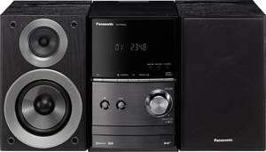 Panasonic SC-PM602EG-K Sztereo berendezés Bluetooth®, DAB+, CD, URH, USB, 2 x 20 W Fekete Panasonic