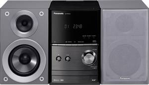 Panasonic SC-PM602EG-S Sztereo berendezés Bluetooth®, DAB+, CD, URH, USB, 2 x 20 W Ezüst Panasonic