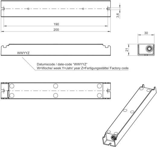 LED meghajtó 1400 mA (10-23,5 V/DC), 230 V/AC, Neumüller LT40-24/1400-IP67