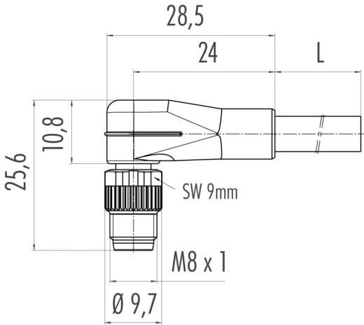 Érzékelő vezeték Induktív közelítés érzékelőkhöz M8 x 1 könyök