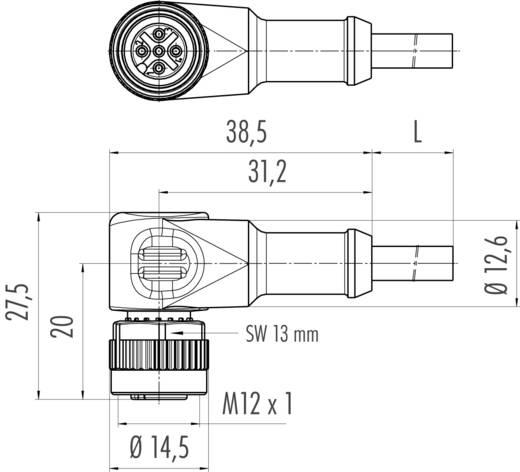 Érzékelő vezeték Induktív közelítés érzékelőkhöz M12 x 1 könyök