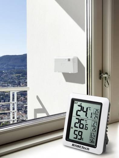 Hőmérséklet- és légnedvesség mérő, fekete, Basetech