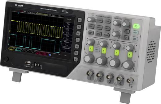 Digitális oszcilloszkóp VOLTCRAFT DSO-1204E SE 200 MHz 4 csatornás 1 GSa/mp 64 kpts Digitális memória (DSO)